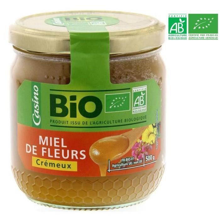 Miel de fleurs crémeux - Pot en verre - Bio - 500g