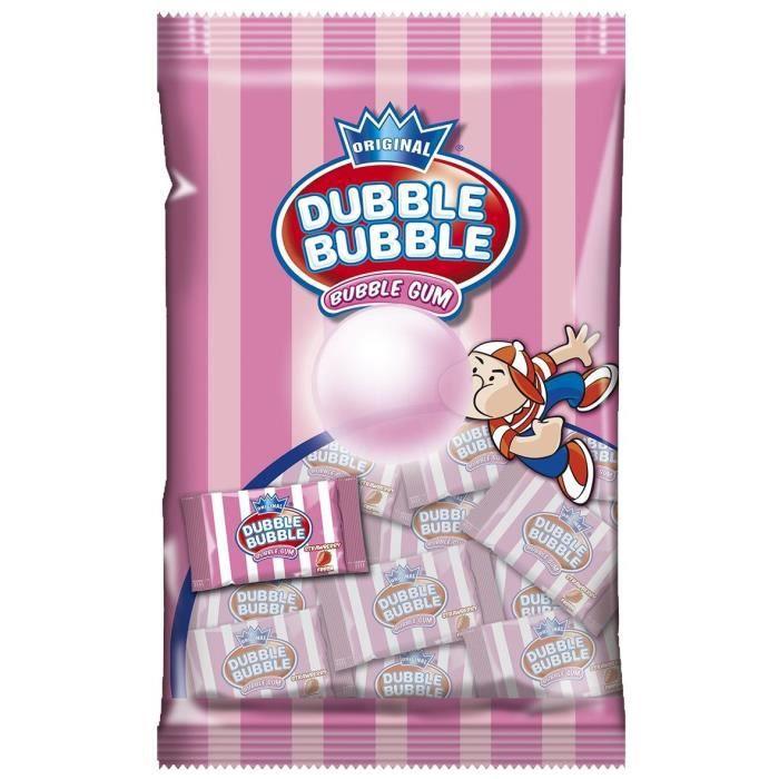 Sachet Dubble Bubble Fraise 85g de bonbons