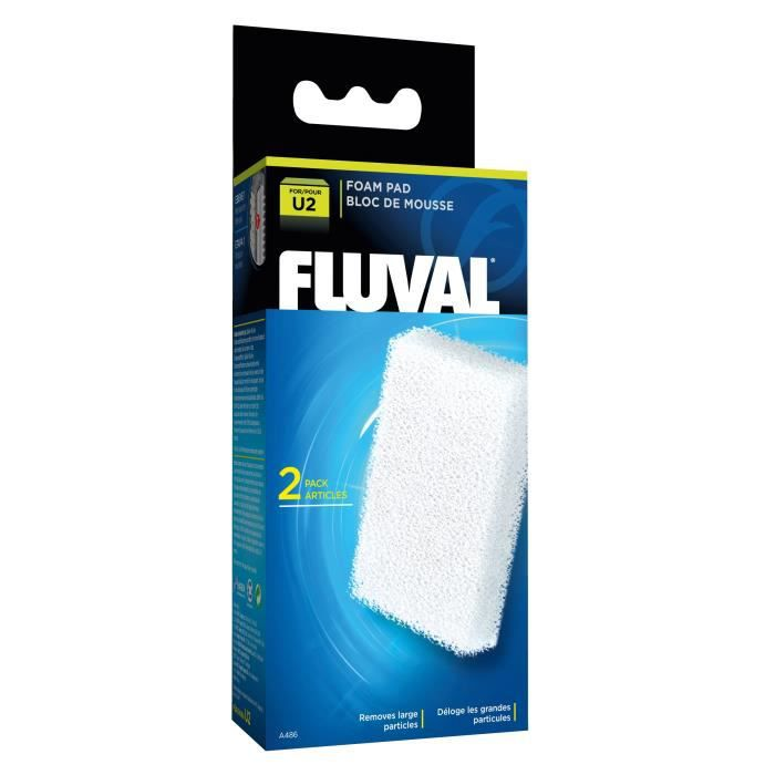 FLUVAL 2 blocs de mousses A470 - Pour aquarium