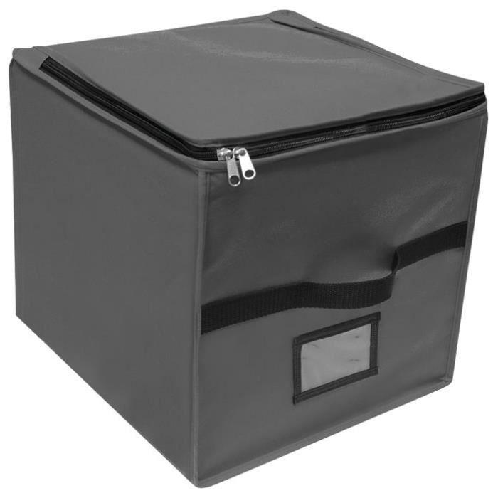 GIOSTYLE Boîte cube de rangement - Gris