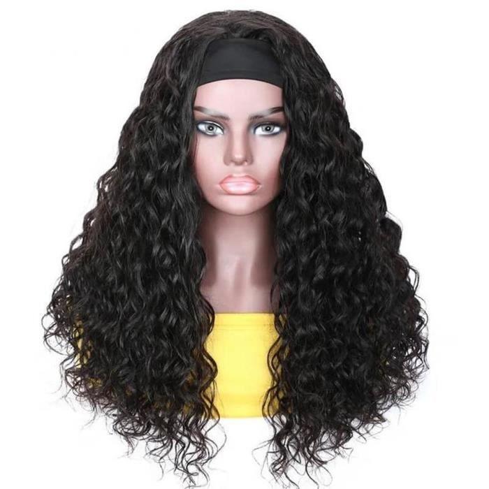 20-Vague d'eau bandeau perruque pleine Machine faite perruques de cheveux humains pour les femmes noires sans colle naturel
