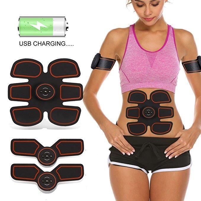 Electrostimulateur Musculaire EMS Ceinture abdominale bras et jambes ABS électro-stimulation Muscle Trainer