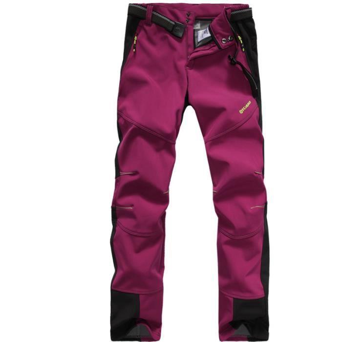 Pantalon Softshell Hommes Femmes Polaire Chaud Pour Trekking Montagne Randonnée Coupe-vent Imperméable Pour Couples Hiver Automne