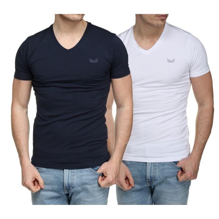 Tee Shirt Kaporal Gift E21 Pack X2 Col V White ...