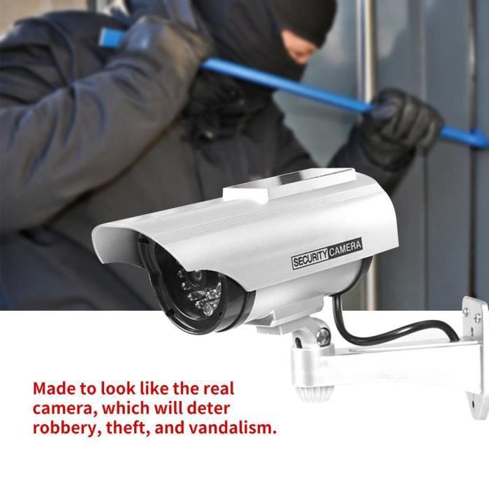 Camera vidéo anti-vol Surveillance de sécurité Étanche Faux Caméra Clignotant Rouge LED
