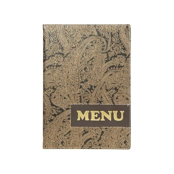 Protège-menus A4 Design Paisley 0,7 Marron