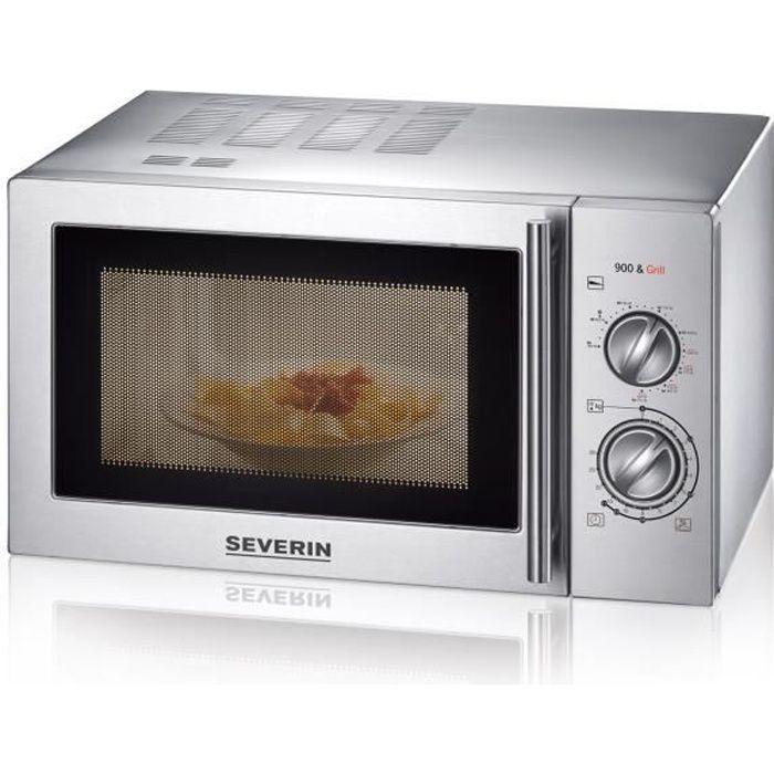 SEVERIN MW 7869 micro-ondes grill inox brossé - 22 L - 900 W - Grill 1000 W - Pose libre