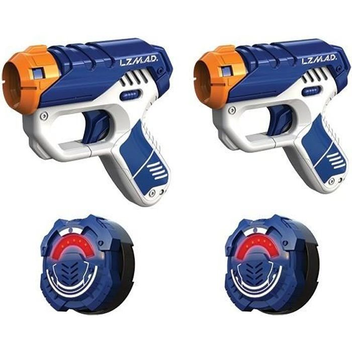 LAZER M.A.D. - Dual Black Ops - Laser Game Enfant - 2 pistolets Black Ops + 2 cibles - 6 ans et +