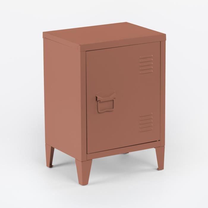 SKLUM Casier de table d'appoint en métal Pohpli Rosa Make Up