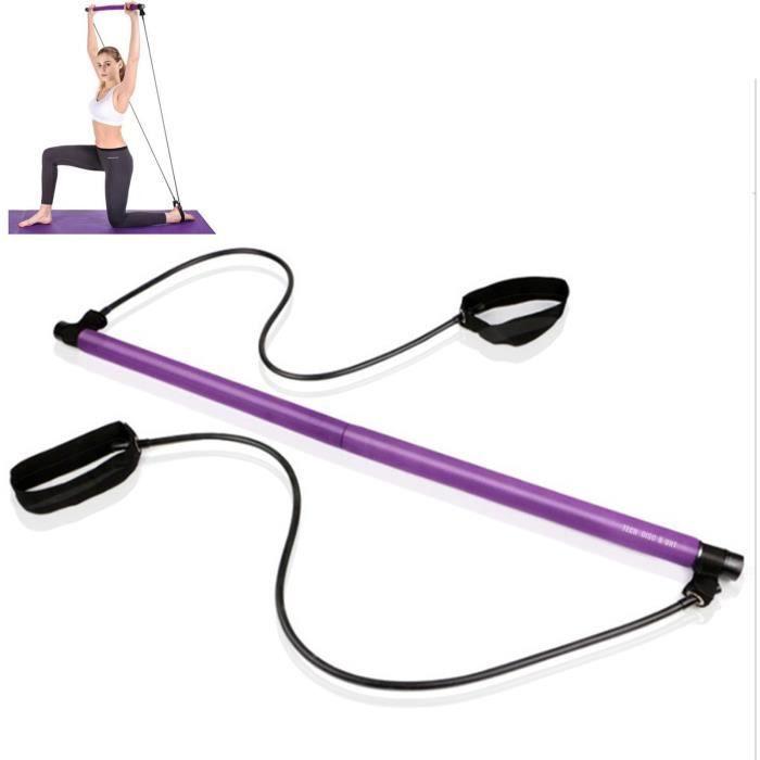 TD® Unisexe Pilates barre bâton résistance maison gymnastique entraînement Fitness Sport portable mous - Modèle: VIOLET