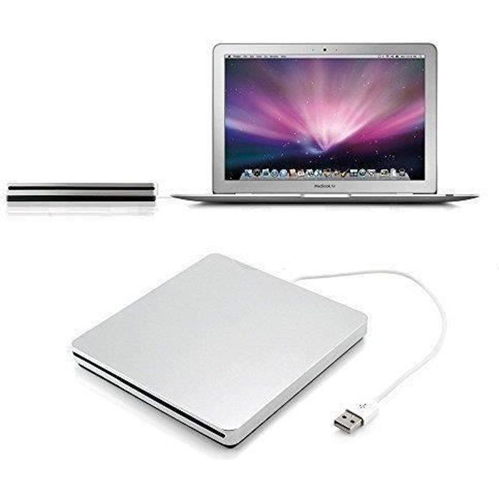 Lecteur/graveur de CD/DVD externe USB Compatible Apple MacBook Pro/Air/Mac mini