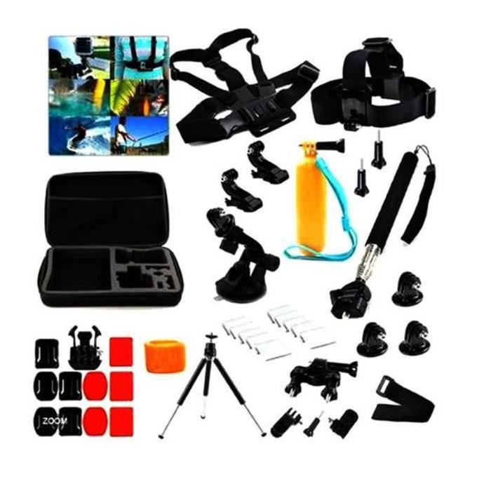 20 en 1 kit d accessoires pour gopro hero 1233 4 achat vente pack accessoires photo 20 en 1. Black Bedroom Furniture Sets. Home Design Ideas