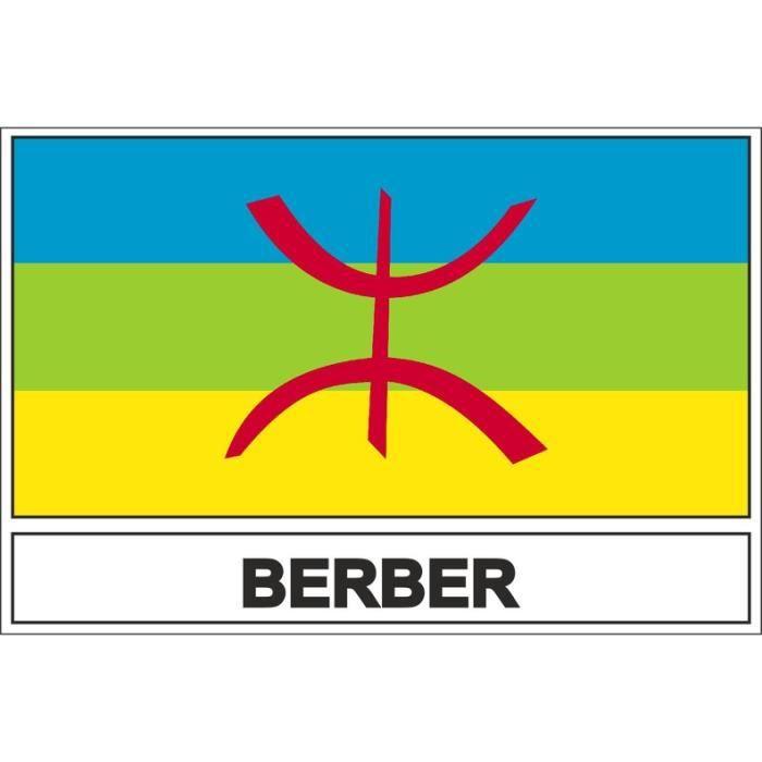 Autocollant sticker drapeau  berberes kabyle kabyle