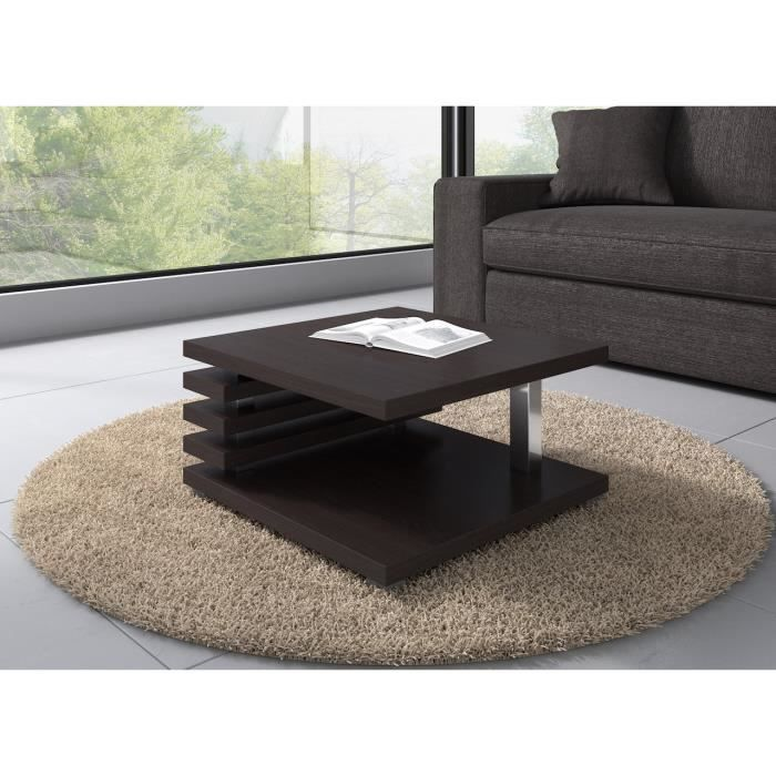 table basse oslo 60 x 60 cm ch ne fonc weng achat vente table basse table basse oslo 60. Black Bedroom Furniture Sets. Home Design Ideas