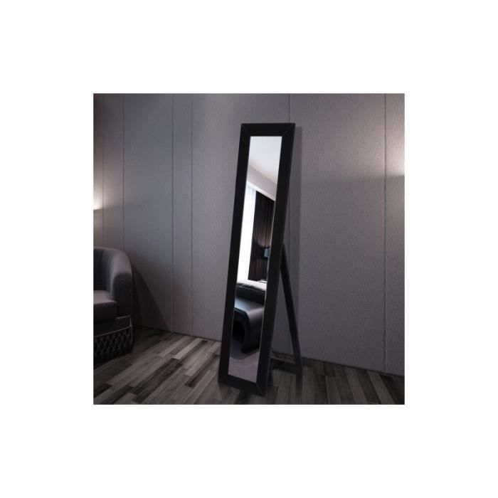 miroir miroir noir avec cadre en bois. Black Bedroom Furniture Sets. Home Design Ideas