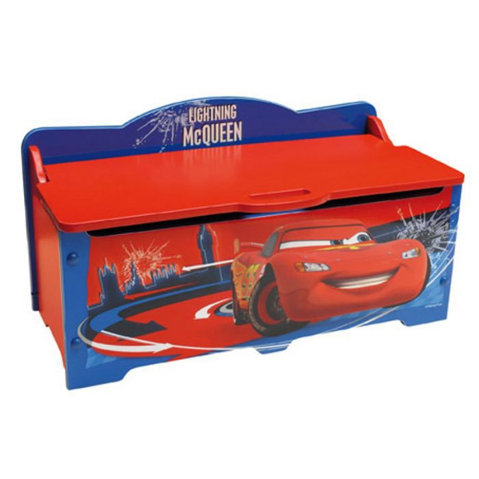 petit coffre jouets cars 2 disney rouge achat vente. Black Bedroom Furniture Sets. Home Design Ideas
