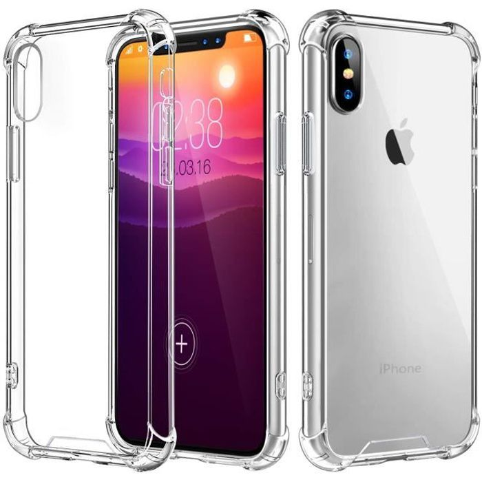 iphone xr coque transparent antichoc