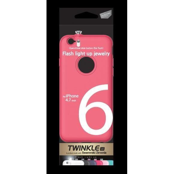 Coque iPhone 6 flashing SWAROVSKI Zirconium rose - Achat coque ...