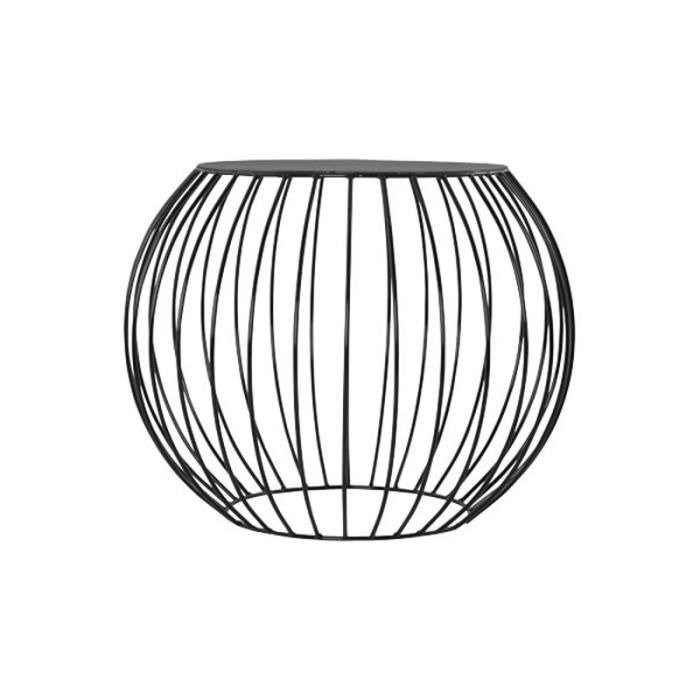 table d 39 appoint cage en m tal peint noir achat vente bout de canap table d 39 appoint cage. Black Bedroom Furniture Sets. Home Design Ideas