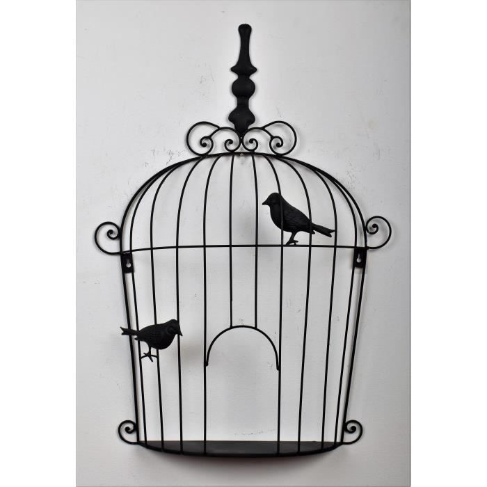 decoration murale cage oiseaux achat vente decoration murale cage oiseaux pas cher soldes. Black Bedroom Furniture Sets. Home Design Ideas