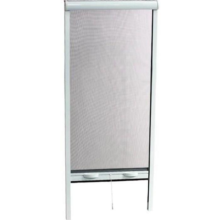 Moustiqaire magnétique blanc rouleau pour fenêtre 100x160 cm en aluminium