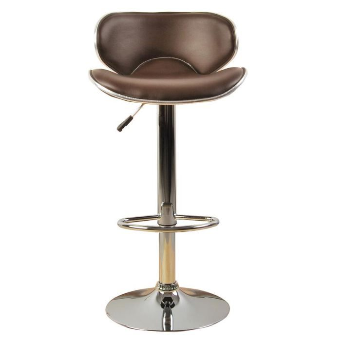 tabouret de bar poker marron achat vente tabouret de bar polyur thane acier chrom cdiscount. Black Bedroom Furniture Sets. Home Design Ideas