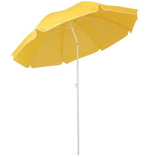 parasol de plage stam jaune 140 cm achat vente. Black Bedroom Furniture Sets. Home Design Ideas