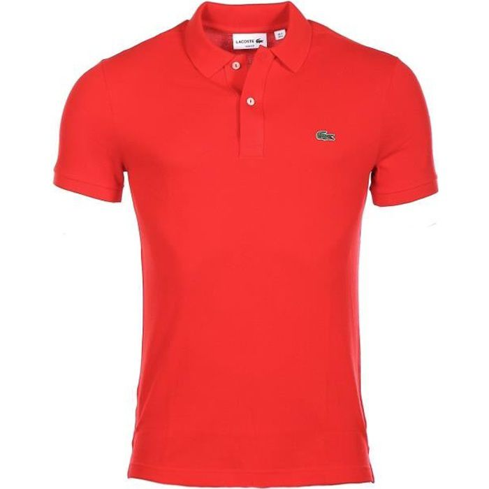 Polo lacoste homme rouge - Achat / Vente