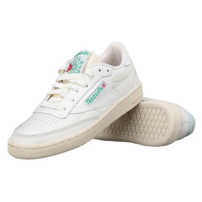 Basket Reebok Club C 85 Vintage Bs8242 Chalk green Blanc