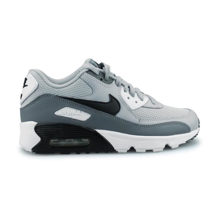 100% top quality best wholesaler outlet on sale NIKE AIR MAX 90 MESH JUNIOR GRIS LOUP Gris - Achat / Vente basket ...