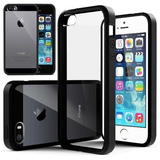 coque transparente iphone 5 5s contour noir