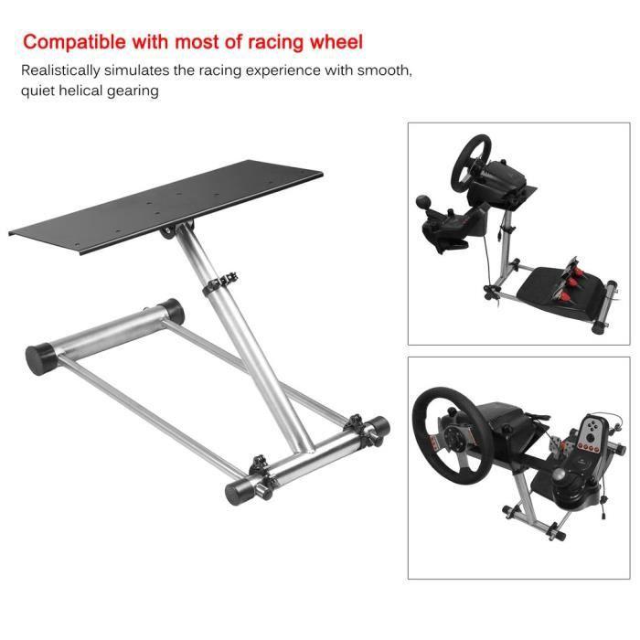 VOLANT PC Racing Volant Stand - Acier inoxydable - Réglable
