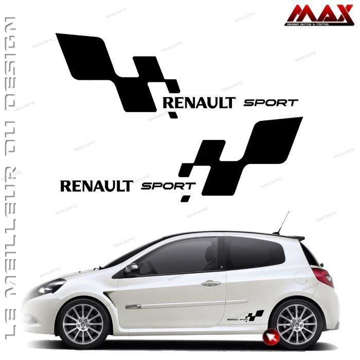 stickers renault achat vente stickers renault pas cher les soldes sur cdiscount cdiscount. Black Bedroom Furniture Sets. Home Design Ideas