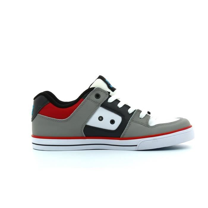 Chaussures Pure Grey/Black/Red Cadet - DC Gris DLQyo1gi