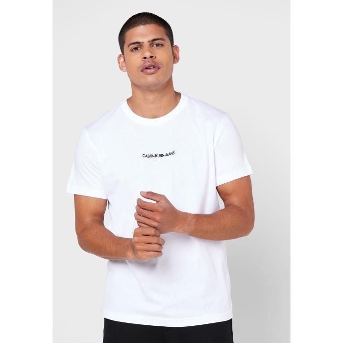 CALVIN KLEIN T-shirt YAF Instit Chest Blanc brillant Homme