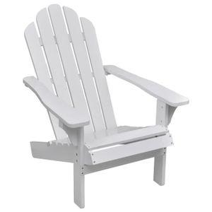 CHAISE MILLIONTEK Chaise de salon jardin en bois blanche