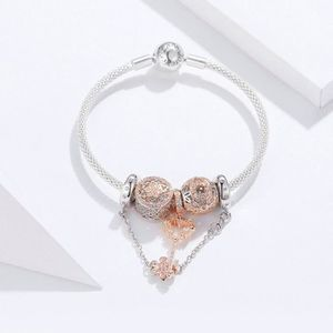 BRACELET - GOURMETTE WOSTU Bracelet Femmes 925 Argent Pandora Style Mar