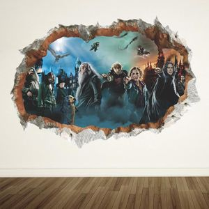 STICKERS Harry Potter poster 3D Wall trous Wall Stickers po