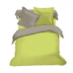 PARURE DE DRAP Parure de draps 4 pièces Bicolore (160cm) Vert/tau