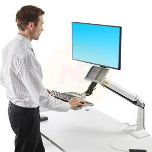 FIXATION ÉCRAN  NB FC35 WHT Support ergonomique ajustable pour tra
