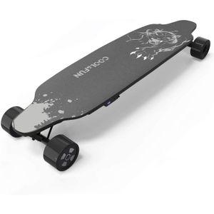 Électrique Skateboard Télécommande à Quatre Roues Longboard 4 Speed Modes Solide