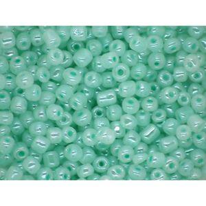 bleu clair turquoise environ 9,9 g Miyuki rocaille 8//0 Rond 3 mm bleu Petrol