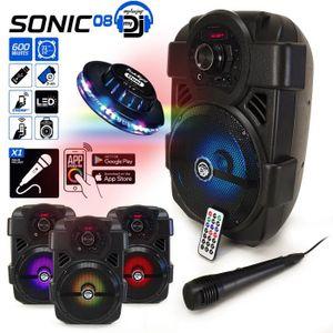 ENCEINTE ET RETOUR Enceinte Karaoké PARTY 400W Batterie MyDj SONIC08