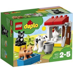 ASSEMBLAGE CONSTRUCTION LEGO® DUPLO® Ma ville 10870 Les animaux de la ferm