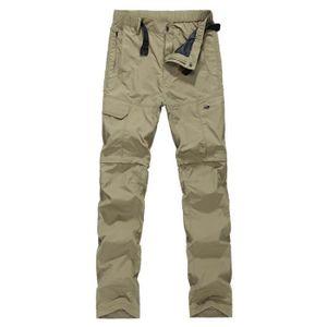 PANTALON SPORT MONTAGNE Pantalon Convertible Homme Randonnée Avec Zip au G
