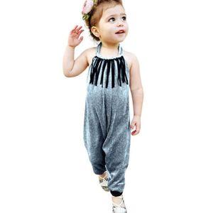 Ensemble de vêtements Bébés filles Bretelles bébé Kid solide Imprimer Ta