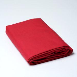 HOUSSE DE COUETTE SEULE Housse de couette percale 260 x 240 cm Linge rouge