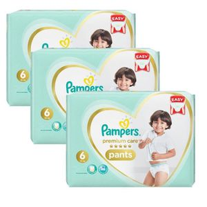 COUCHE 72 Couches Pampers Premium Care Pants taille 6