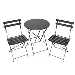 table ronde 2 chaises achat vente table ronde 2 chaises pas cher cdiscount. Black Bedroom Furniture Sets. Home Design Ideas