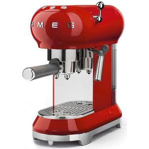 MACHINE À CAFÉ Smeg - machine à expresso 15 bars rouge - ecf01rde